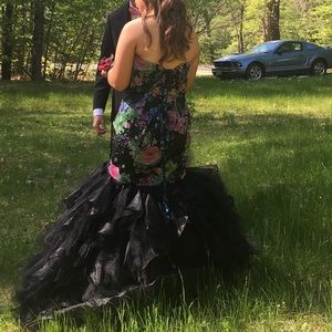 Flower prom dress, mermaid fit, only worn once
